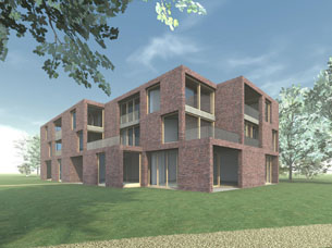 The design for the main building of country estate Haagwijk in Voorschoten, the Netherlands, is with three others selected for an exhibition about the estate. The exhibition took place at castle Duivenvoorde and at architecture centre RAP in Leiden, the Netherlands.