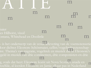 Design of an invitation for a concert.