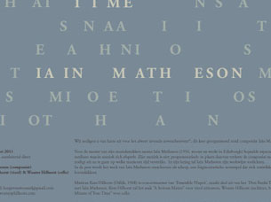 Design for an invitation for a combined lecture and concert.