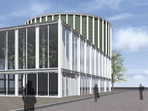 Competition entry for a hub for thermal energy in Rotterdam, at the Brielselaan in Rotterdam Zuid.
